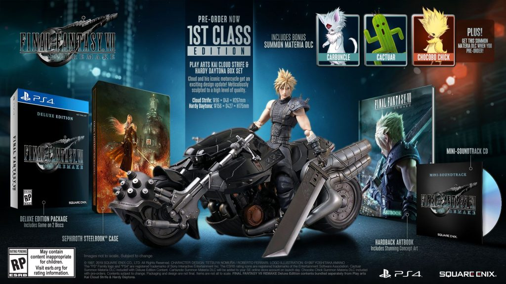 paket 1st class final fantasy VII remake