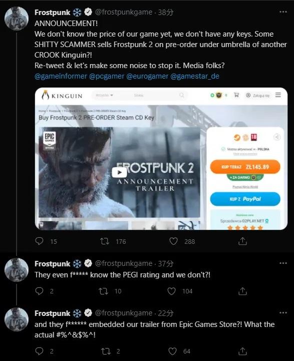 Upload Harga dan Rating Dari Frostpunk 2 di Kinguin, Penipu Ini Bikin 11 Bit Studios Ngamuk!