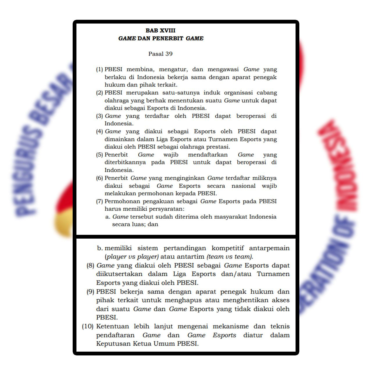 Regulasi PBESI Tuai Pro dan Kontra!